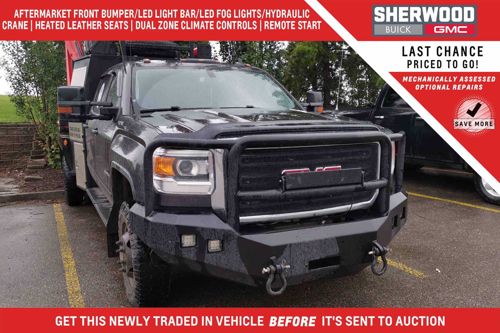 Pre-Owned 2015 GMC Sierra 3500 HD SLE Preferred DRW Service Deck 4WD Crew Cab Pickup